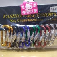 Gantungan Kunci Pengait Besi (12 pcs)