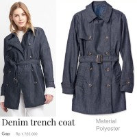 GP denim trench coat Material cotton denim poliester