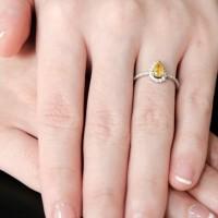 Cincin Berlian - Safir kuning - Ivana Jewellery