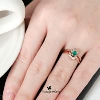 Cincin Berlian - Emerald - Ivana Jewellery