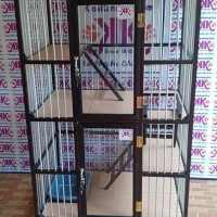 Kandang Kucing Alumunium Tipe KKC-02LM (90x60x130Cm )