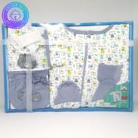 Paket Jumpsuit Bayi Baru Lahir / Jumper Gift Set Baby Newborn Abu-Abu