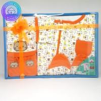 Paket Jumpsuit Bayi Baru Lahir / Jumper / Gift Set Baby Newborn Orange
