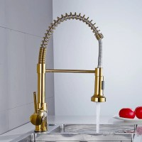 Kran kitchen sink gold mixer panas dingin / Keran restoran warna emas
