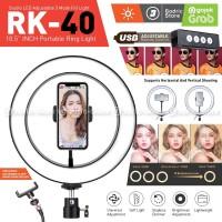 RING LIGHT LED COSTA RK40 26CM Lampu MultiColor Make Up Vlog Ringlight