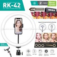 RING LIGHT LED COSTA RK42 29CM Lampu MultiColor Make Up Vlog Ringlight