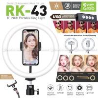 RING LIGHT LED COSTA RK43 20CM Lampu MultiColor Make Up Vlog Ringlight