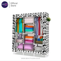 AY Lemari Pakaian Dusk Cover Cow Spot 3 Kolom / Storage Wardrobe