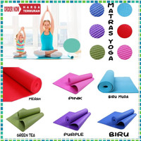 Grosir Matras Alas Yoga Senam Mat AntiSlip Outdoor Indoor 6mm Free Bag