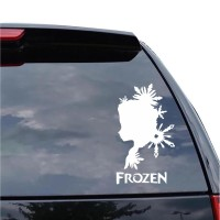 Sticker Decal Mobil Cutting Vinyl Reflektif Ice Queen Elsa Frozen