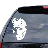 Sticker Decal Mobil Cutting Vinyl Siluet Jason Voorhees Friday 13th