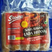 SOSINA sosis bakar jumbo 500gr bratwurst original dan sosis lada hitam