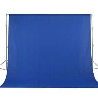 BACKGROUND FOTO BIRU BLUE SCREEN 6X2.8 METER