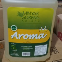 minyak goreng kelapa AROMA 5lt mirip barco bening murah