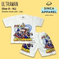 Baju Setelan Anak Cowok Laki Laki [Set Kaos Celana] - Ultraman