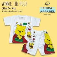 Baju Setelan Anak Cowok Laki Laki [Set Kaos Celana] - Winnie The Pooh