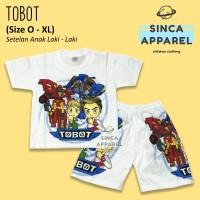 Baju Setelan Anak Cowok Laki Laki [Set Kaos Celana] - Tobot