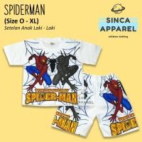 Baju Setelan Anak Cowok Laki Laki [Set Kaos Celana] - Spiderman