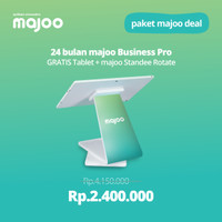 majoo Deal : 24 Month Business PRO Free Tablet + Standee Rotate