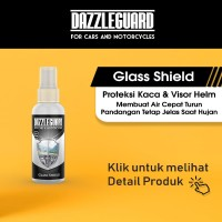Glass Shield Efek Daun Talas Water Repellent Di Kaca Mobil Visor Helm