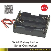 Box Baterai 3x AA Battery Holder Baterry Case Batere Koneksi Seri