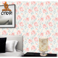 Painting Flower 45cmx10m Wallpaper Sticker Dinding - Wallpaper Stiker