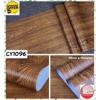 Wood Motif 45cmx10m Wallpaper Sticker Dinding CY1096 Stiker Dinding