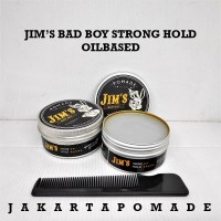 Pomade Jim's Bad Boy Strong Hold Oilbased 3.5oz Free Sisir