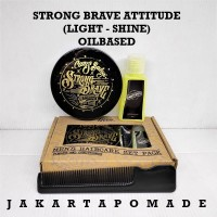 Pomade Strong Brave Attitude SBA Light Hold Oilbased Canis Bailey