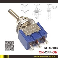 Saklar Toggle 3 kaki 2 Posisi ON-OFF-ON Toggle Switch MTS-103