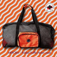 Merora Nylon folded dive duffle -orange black