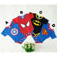 Baju Anak Jumper Bayi Laki Laki Baby Superhero Super Hero Marvel Lucu