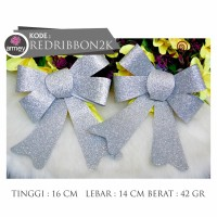 red ribbon pita pohon natal isi 2 pcs