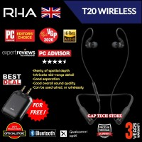 RHA T20 /T 20 Wireless Hi-Fi In-Ear Headphone with DualCoil Technology