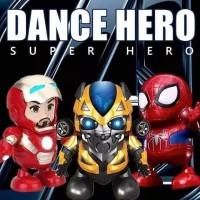 Robot Iron man Dance Dancing Spiderman Bumblebee Dance Hero Music