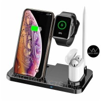 4 in 1 10W Fast Wireless Charger Dock Station Fast Charging Stand W30
