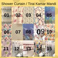 Shower Curtain / Tirai Kamar Mandi PEVA 180x200 Anti Air - NO. 20