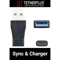 TetherPlus male USB 3.0 to female USB 3.1 Type C Adapter Converter