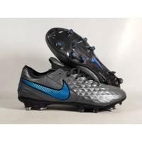 Sepatu Bola Tiempo LEgend VIII Black Blue FG Replika Impor
