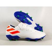 Sepatu Bola Nemeziz 19.1 White Blue Orange FG Replika Impor