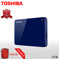 Toshiba Canvio Advance Hardisk / HDD Eksternal 2TB USB3.0 + Pouch FS