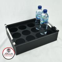 Isi 12 Lubang - Tatakan / Nampan / Baki Tempat Aqua Botol Hitam