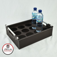 Isi 12 Lubang - Tatakan / Nampan / Baki Tempat Aqua Botol Coklat