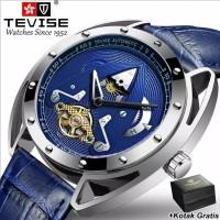 Jam Tangan Pria Tevise Automatic Mechanical Luxury Blue