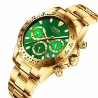 Jam Tangan Mekanik Automatic Tevise Homage Rolex Daytona Green Dial