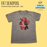 Baju Kaos Anak Laki - Laki Fat Deadpool Lengan Pendek Premium