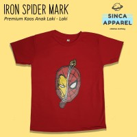 Baju Kaos Anak Cowok Laki - Laki Iron Spider Superhero Premium