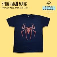 Baju Kaos Anak Cowok Laki - Laki Spiderman Mark Superhero Premium