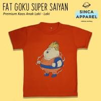 Baju Kaos Anak Laki - Laki Fat Goku Lengan Pendek Premium