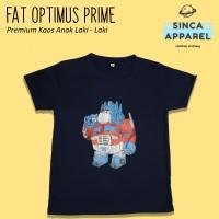 Baju Kaos Anak Laki - Laki Fat Optimus Prime Lengan Pendek Premium